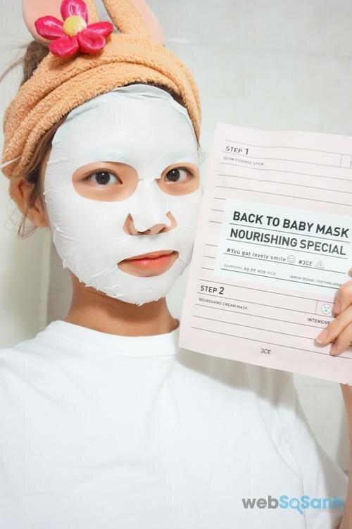 Mặt nạ 3CE Back To Baby Mask: Nourishing Special dưỡng ẩm sâu