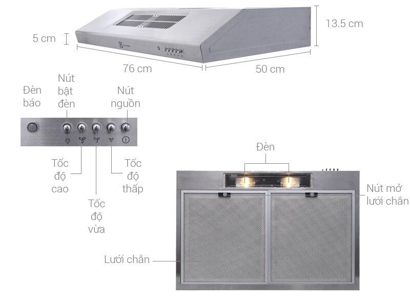 Máy hút mùi Electrolux eft7516x