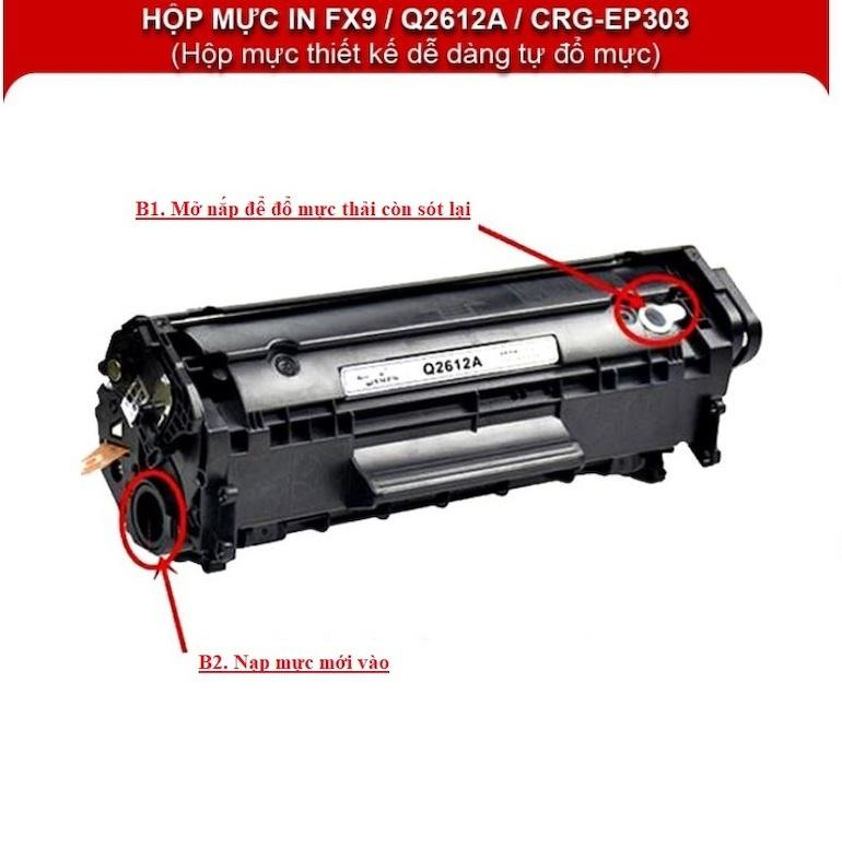 Hộp mực Canon 2900, 3000, HP 1010,1020,1022,3020,M1005