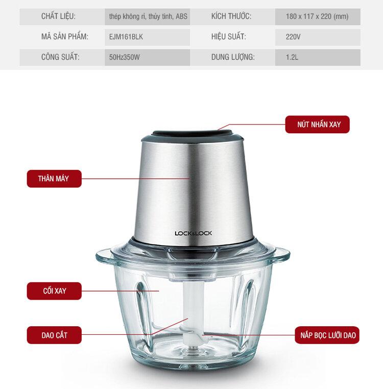 Thiết kế máy xay thịt Lock&Lock EJM161blk đơn giản, chắc chắn