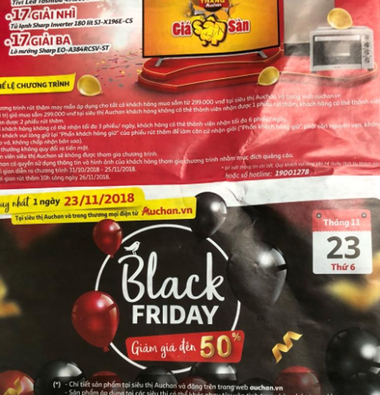 Khuyến mãi Black Friday 2018 tại các siêu thị