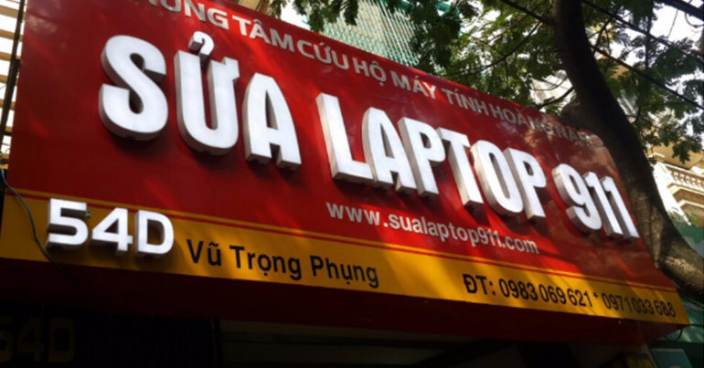 Laptop911.vn địa chỉ sửa chữa laptop, thay thế linh kiện laptop uy tín tại Hà Nội