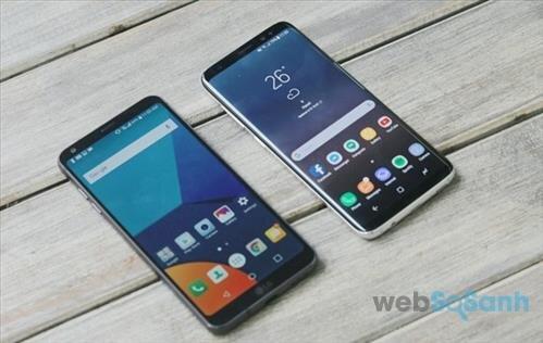 so sánh thiết kế samsung s8 và lg g6