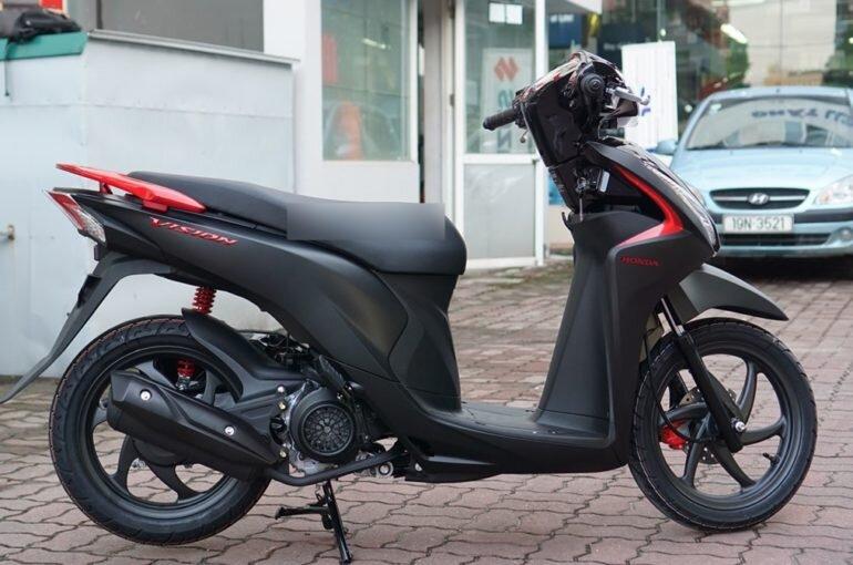 Honda Vision màu đen nhám