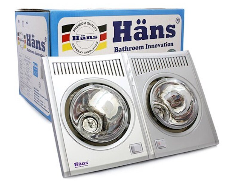 Đèn sưởi nhà tắm hồng ngoại Hans 2 bóng