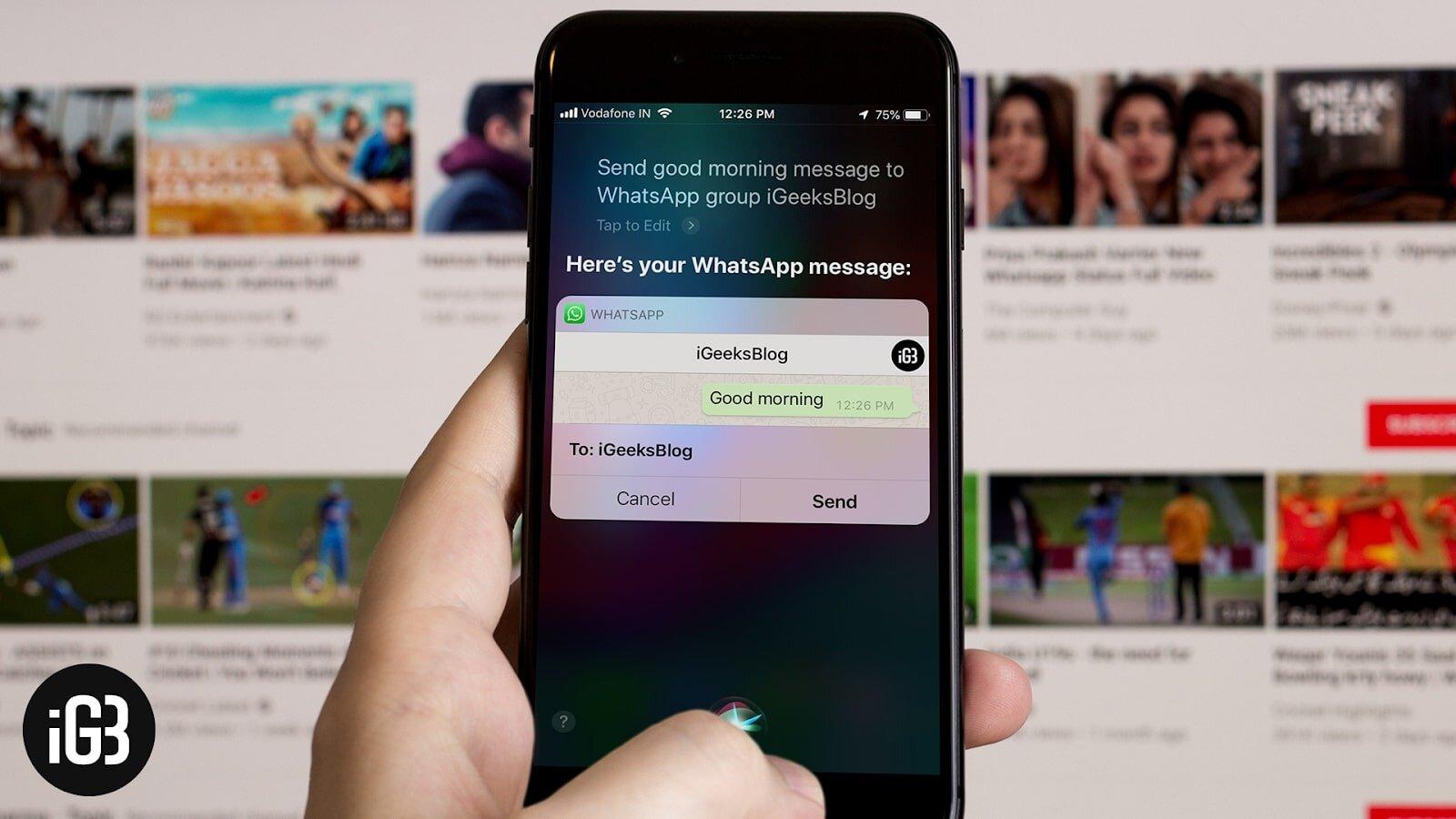 Đọc tin nhắn trong Siri iPhone