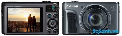 Máy ảnh compact Canon PowerShot SX720 HS có một cơ thể chắc chắn kết hợp giữa nhựa và kim loại