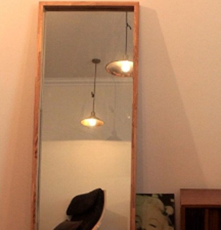 Gương khung gỗ đặt theo size khách oder