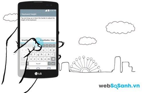 LG L Fino cũng có tính năng smart keybroard giúp bạn có thể nhập dữ liệu nhanh hơn