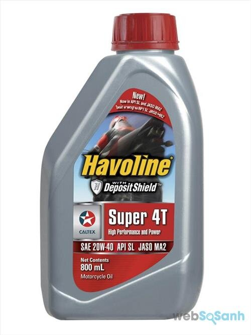 Giá dầu nhớt Havoline