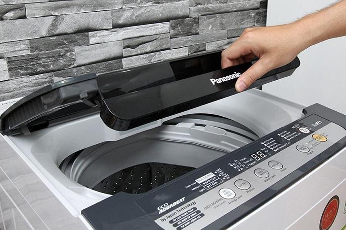 Đóng nắp lại để máy giặt hoạt động