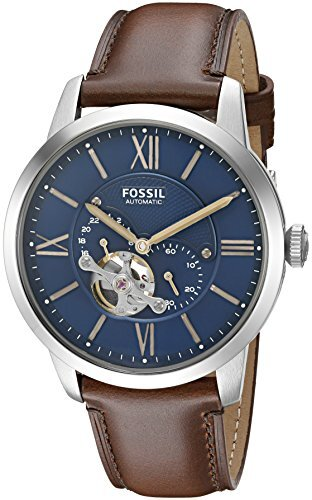 Đồng hồ nam Fossil ME3110 Townsman Automatic Leather Watch