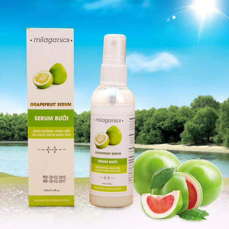 Thiết kế của chai tinh dầu vỏ bưởi Milaganics gây thiện cảm cho người dùng từ cái nhìn đầu tiên