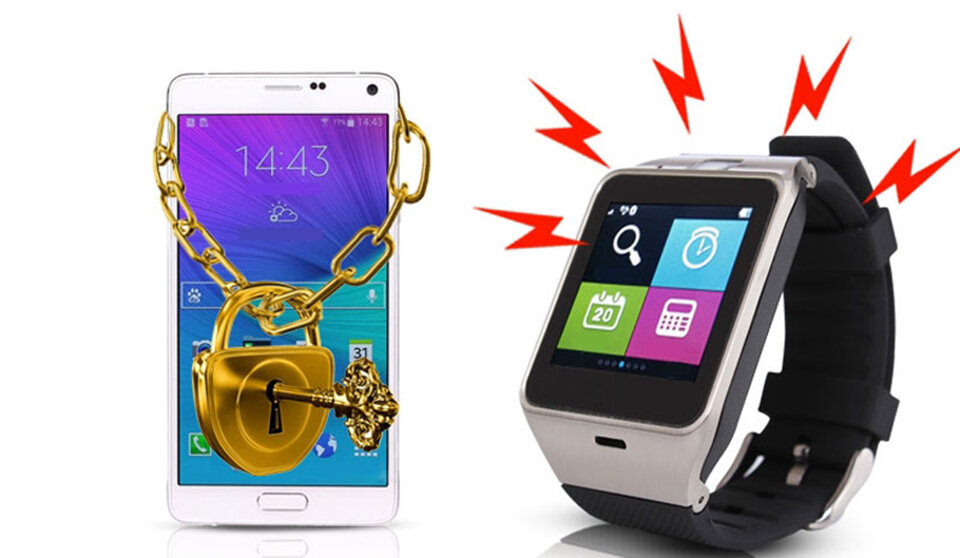 """Đồng hồ thông minh hỗ trợ """"bảo vệ"""" smartphone"""