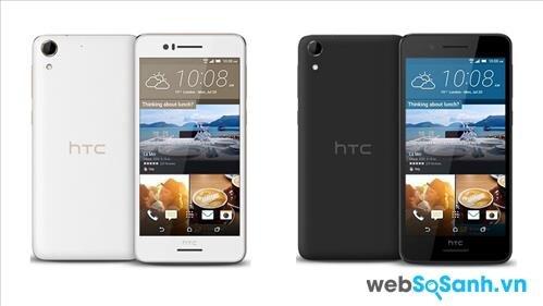 Điện thoại Desire 728G có hai mầu tùy chọn là đen và trắng