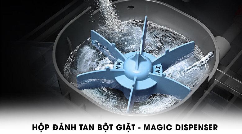 Hộp Magic Dispenser có khả năng đánh tan bột giặt hiệu quả