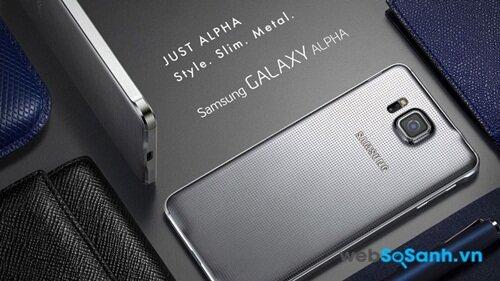 Galaxy Alpha toát lên vẻ cao cấp với khung kim loại