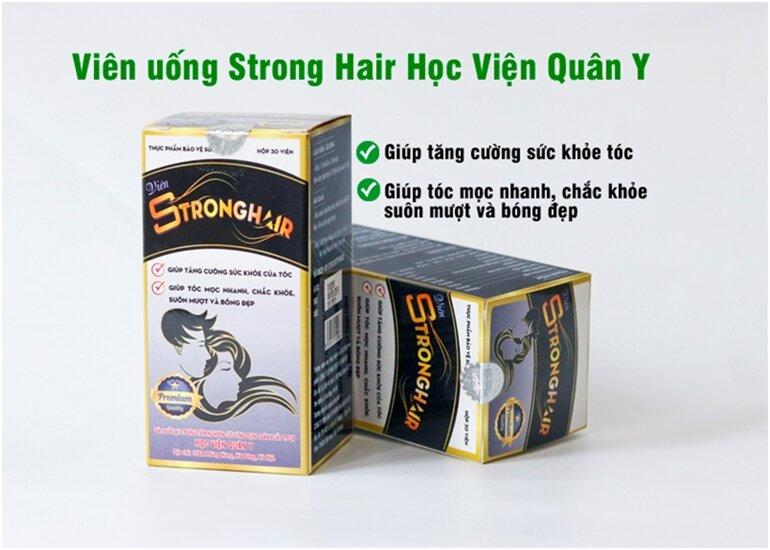 viên mọc tóc strong hair và dầu gội bưởi & bồ kết herbario