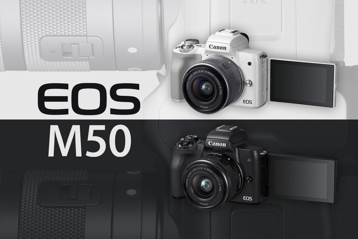Máy ảnh Canon EOS M50 thiết kế khá giống với chiếc EOS M5