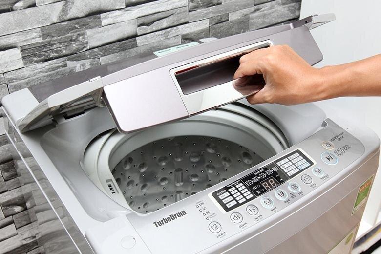 Máy giặt LG cửa trên có thiết kế rất bắt mắt