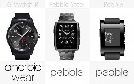 Phần mềm G Watch R, Pebble Steel, Pebble
