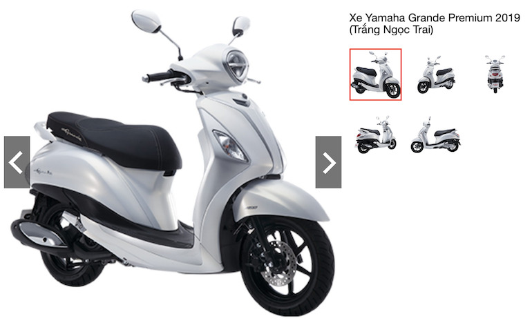 Xe Yamaha Grande Premium 2019 (Trắng Ngọc Trai)