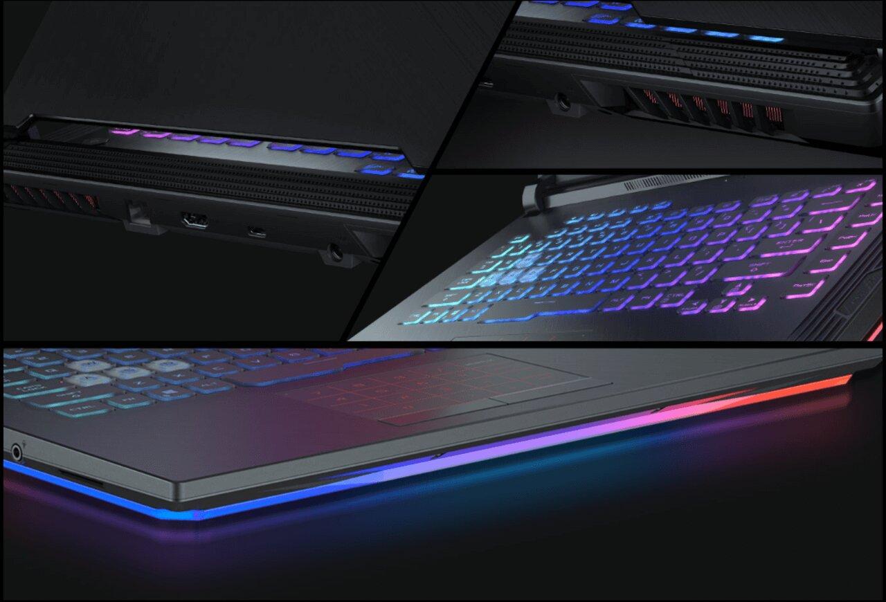 Laptop gaming Asus ROG Strix G G531GD-AL025T hỗ trợ đèn nền bàn phím