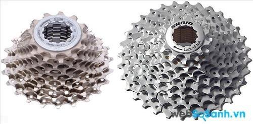 Bộ líp xe đạp leo núi thường có số líp nhiều hơn hẳn những dòng xe khác