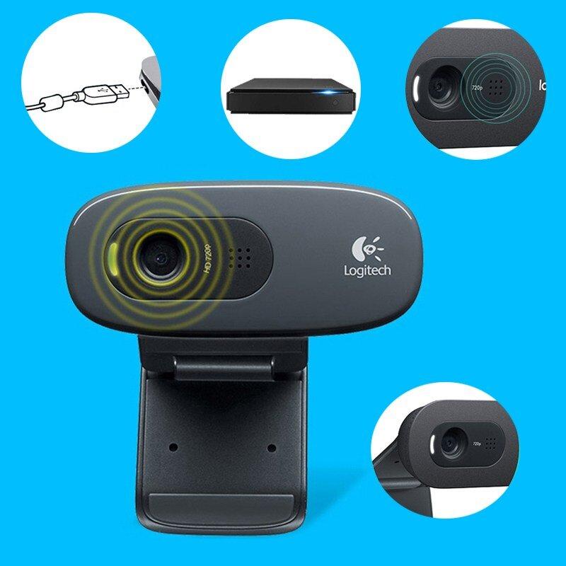 Logitech C270 có thiết kế nhỏ gọn nên bạn dễ dàng lắp đặt và sử dụng