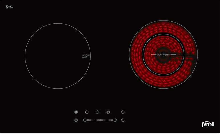 Hình ảnh bếp điện từ và hồng ngoại Ferroli FB4200EN
