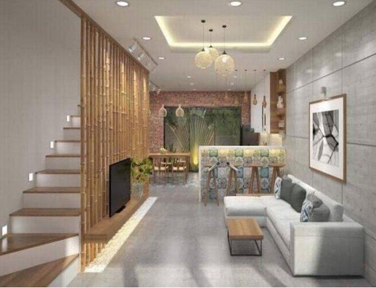 Lưu ý tới không gian của phòng khách khi chọn nội thất nhà ống đẹp