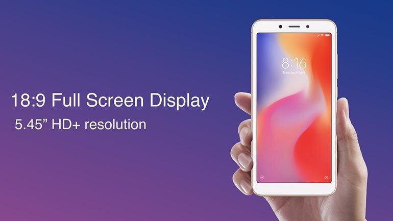 Xiaomi Redmi 6A màn hình