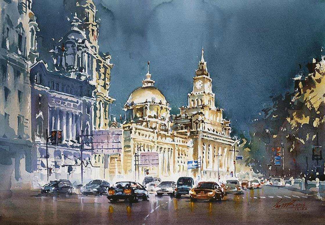 Thành phố về đêm rất sống động dưới bàn tay nghệ thuật