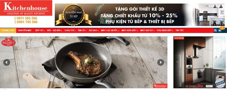 Kitchenhouse.vn là một trong những địa chỉ uy tín để mua đồ dùng nhà bếp nhập khẩu.