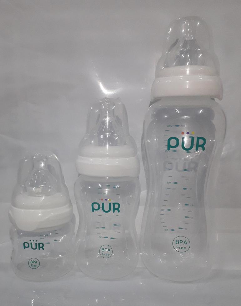 Bình sữa Pur có nhiều dung tích khác nhau cho mẹ lựa chọn