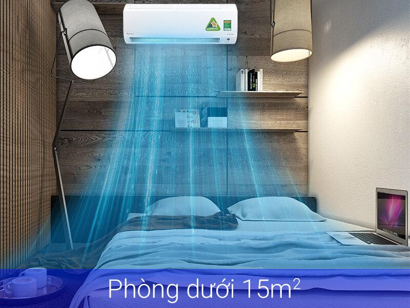 Máy lạnh 1 ngựa tiết kiệm điện thích hợp cho phòng ngủ, phòng nhỏ dưới 15m2