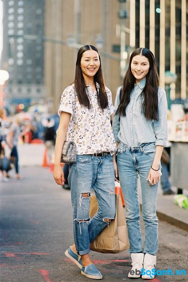 Kết hợp với boyfriend jeans nam tính (ảnh internet)