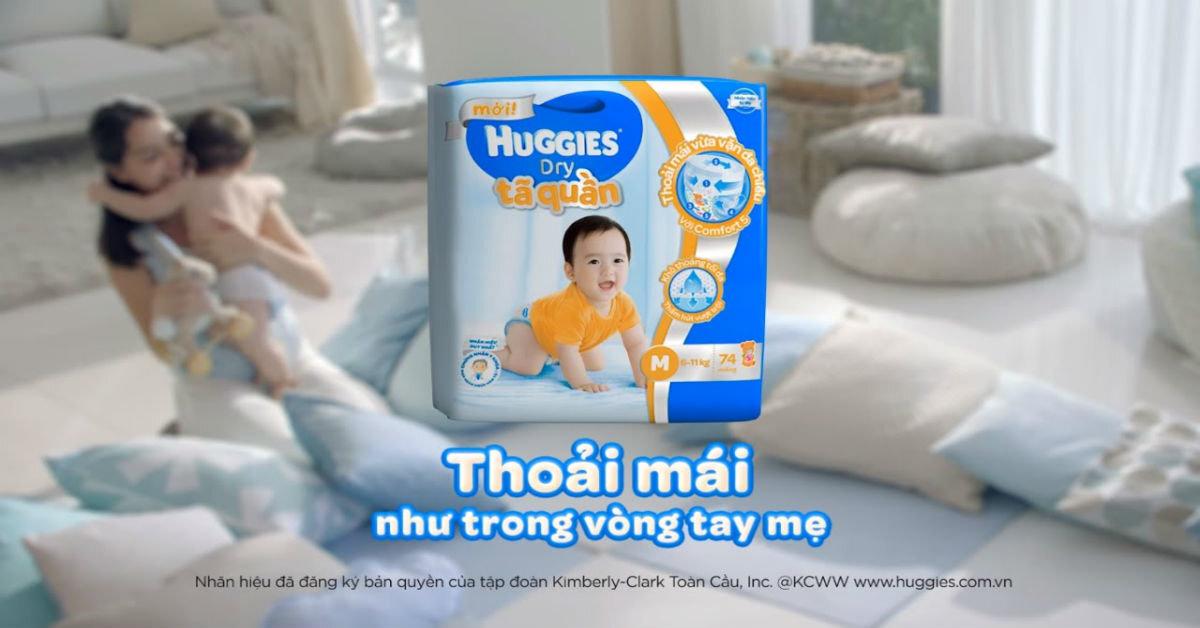 Tã quần Huggies được nhiều bà mẹ tin dùng
