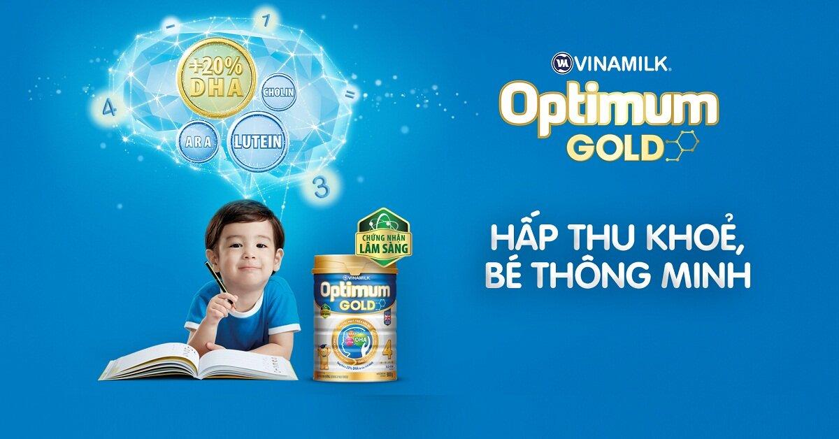 3 lý do nên chọn mua sữa Optimum Gold 4 1.5kg cho bé sử dụng