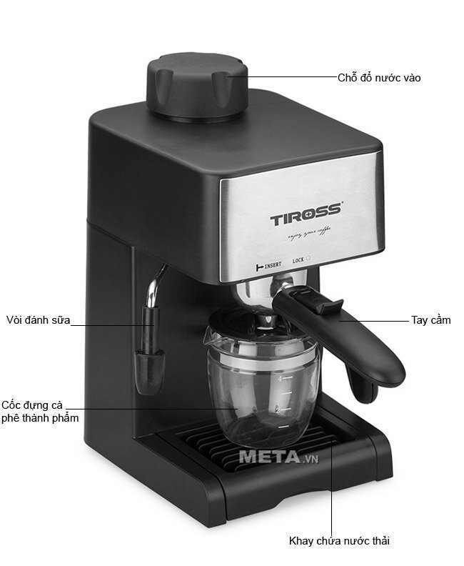 Máy pha cà phê Tiross TS-621 khá phổ biến, được nhiều người tin dùng