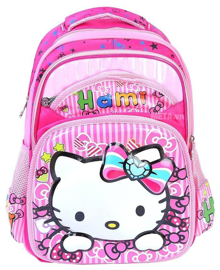 Balo học sinh tiểu học giá rẻ siêu nhẹ Hami 283 Hello Kitty
