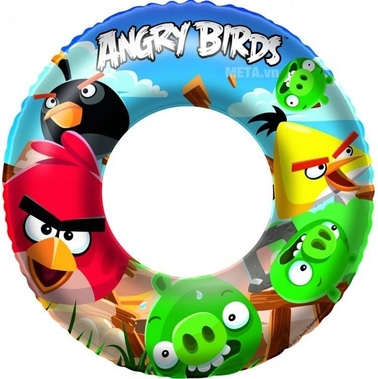 Phao bơi Angrybird Bestway 96102