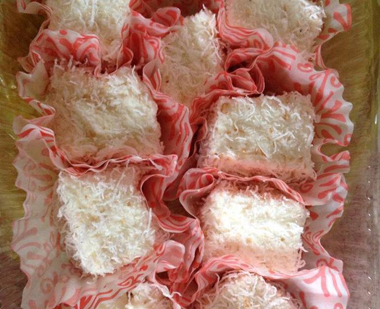 Bánh sữa tươi chiên vị dừa kem lạnh thơm ngon mát lạnh