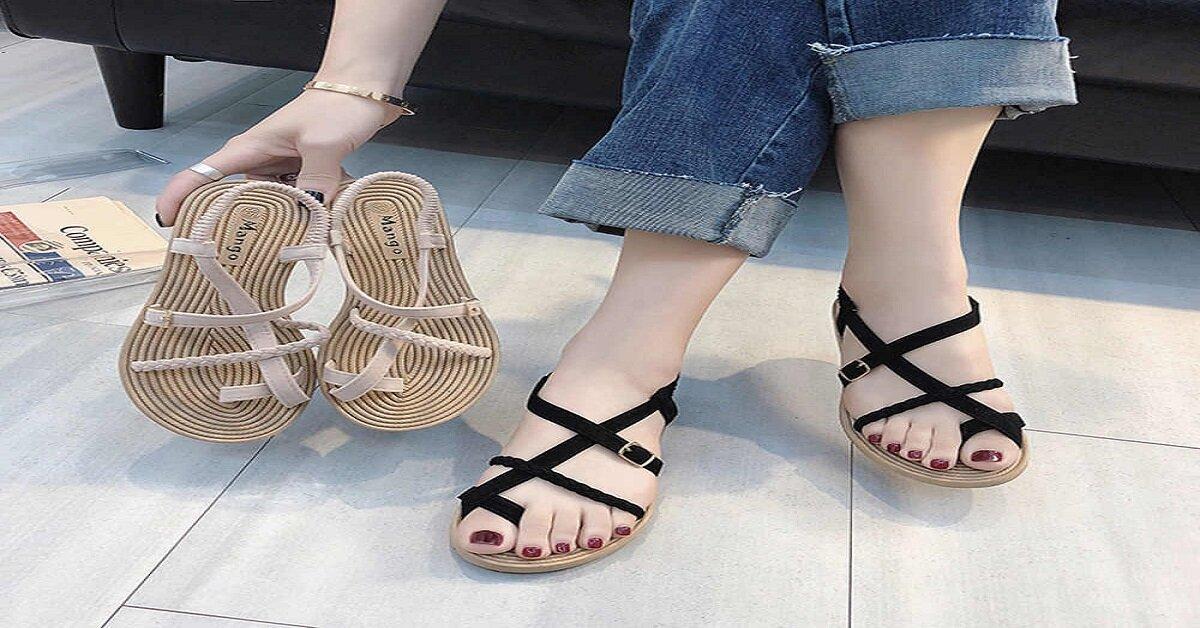 sandal nữ đan chéo