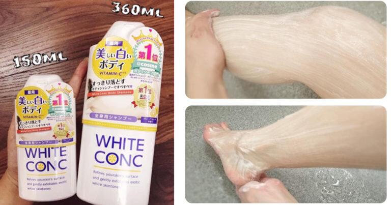 Sữa tắm White Conc chai nhỏ 150ml giá bao nhiêu ? Mua ở đâu ?