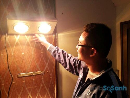 Đèn sưởi nhà tắm vừa giúp chiếu sáng và vừa sưởi ấm
