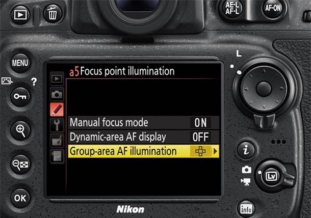Nikon D810 release: Group Area AF