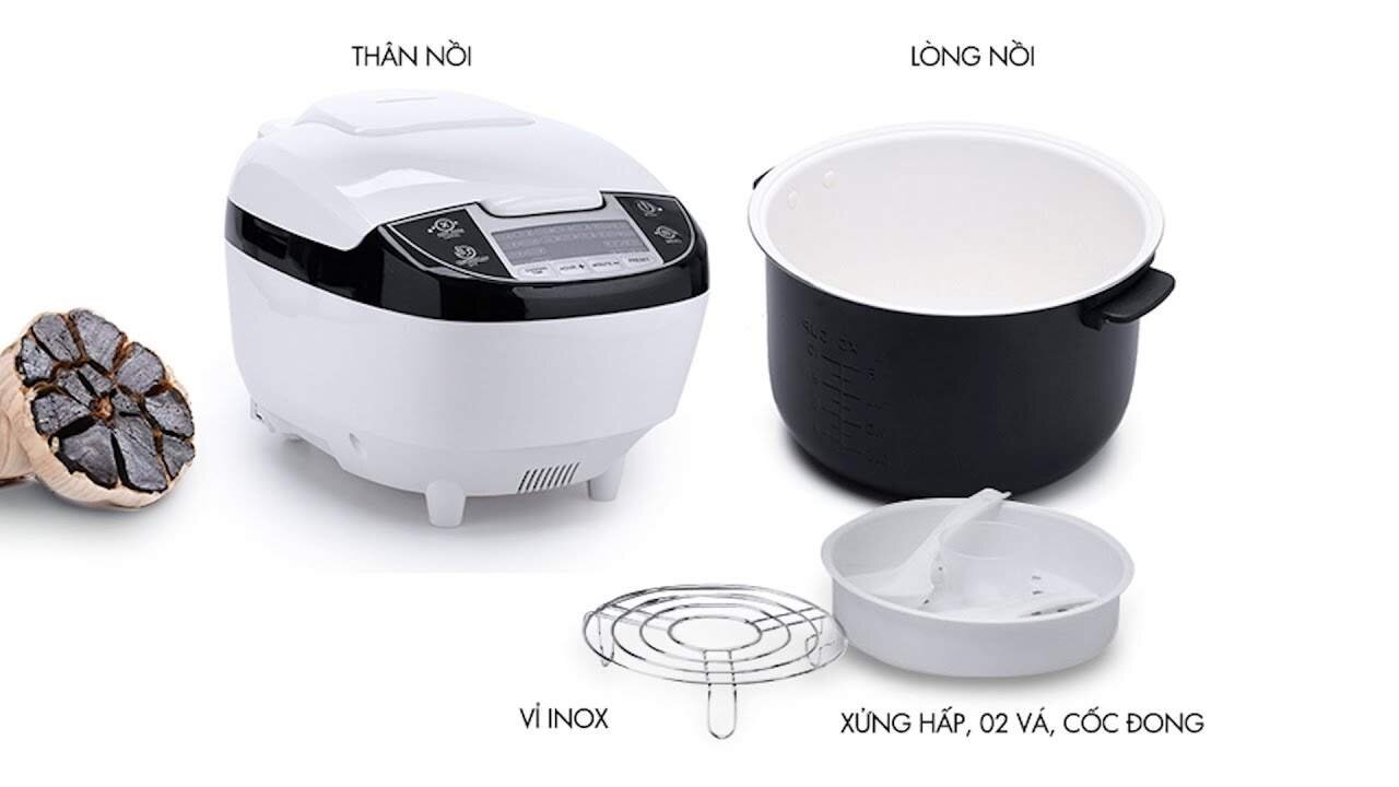 Máy sản xuất tỏi đen 4D Ceramic Mishio 1,8L