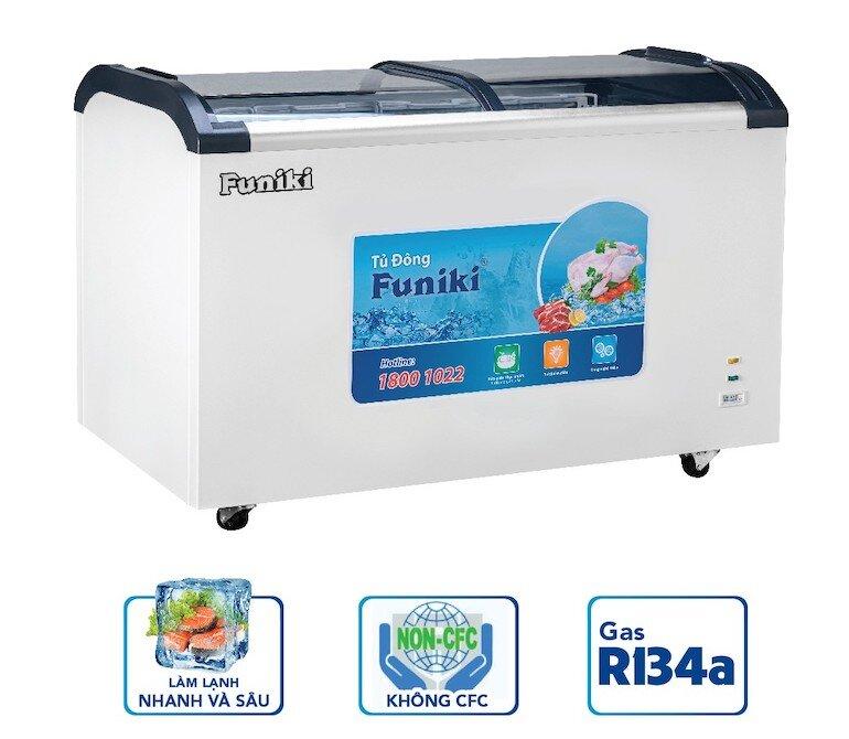 Tủ đông mặt kính Funiki HCF 680S1PĐG.N