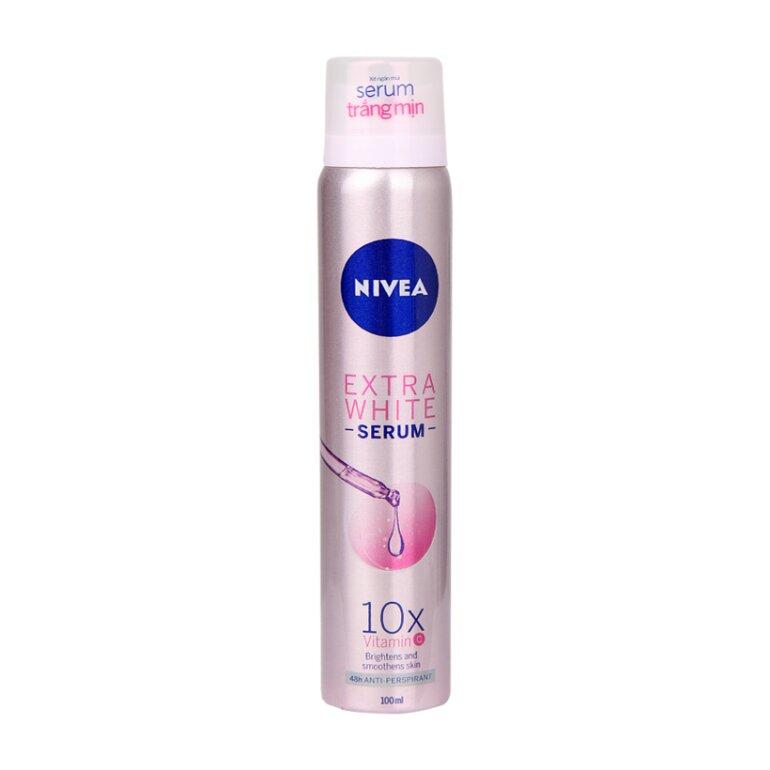 Xịt ngăn mùi Nivea Extra White Serum